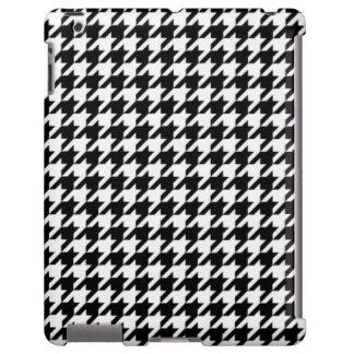 Houndstooth blanco y negro funda para iPad