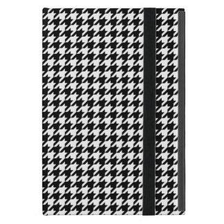 Houndstooth blanco y negro iPad mini cobertura