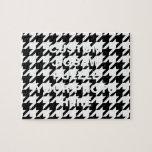 Houndstooth blanco y negro puzzle con fotos