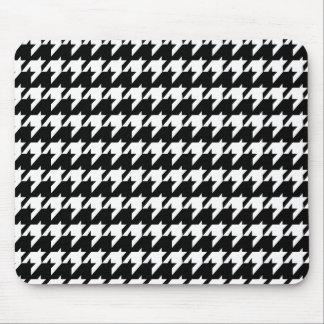 Houndstooth blanco y negro tapetes de raton
