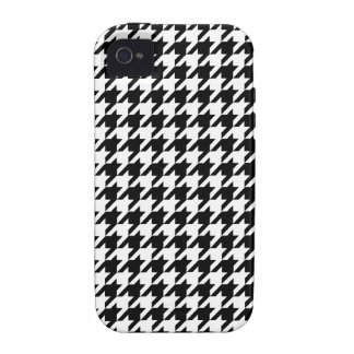 Houndstooth Blank and White iPhone 4/4S Cover