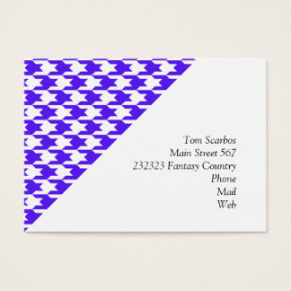 houndstooth blue (I) Business Card