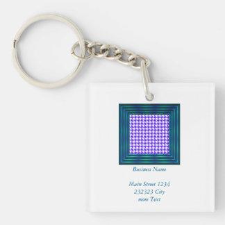 houndstooth blue (I) Keychain