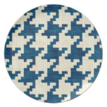 Houndstooth Blues Party Plates