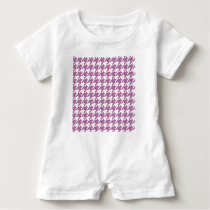 houndstooth bodacious and white baby romper
