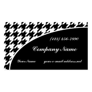 Houndstooth Business Card Template