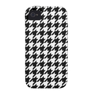 houndstooth check pattern iPhone 4/4S covers