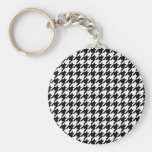houndstooth check pattern key chains