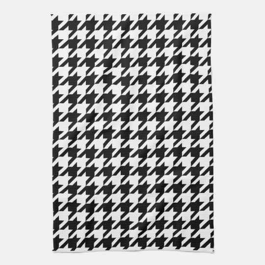 houndstooth check pattern kitchen towel