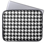 houndstooth check pattern laptop sleeve