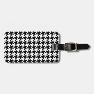 houndstooth check pattern tags for luggage