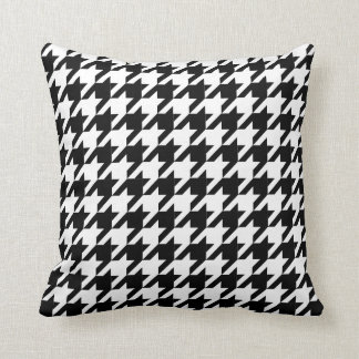 Houndstooth check pattern throw pillows