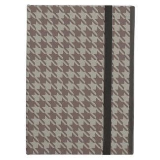 Houndstooth Checks Pattern in Grey Browns iPad Air Cover