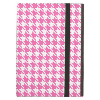 Houndstooth Checks Pattern in Pink and White Cover For iPad Air