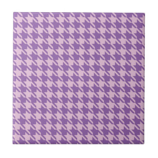 Houndstooth Checks Pattern in Shades of Purple Tile