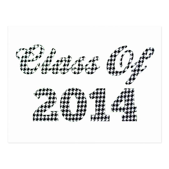 Houndstooth Class Of 2014 Postcard