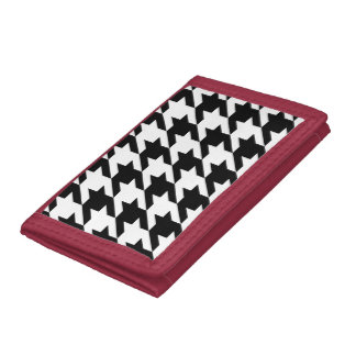 Houndstooth classic pattern updated version trifold wallet