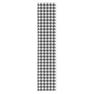 Houndstooth classic weaving pattern short table runner