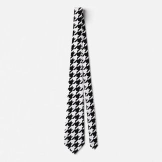 Houndstooth classic weaving pattern tie