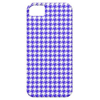 Houndstooth COBALT BLUE ANY COLOR BACKGROUND iPhone SE/5/5s Case