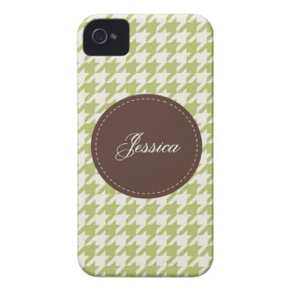 Houndstooth cosido iPhone 4 protectores