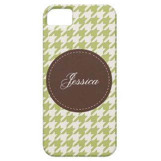 Houndstooth cosido iPhone 5 Case-Mate protectores