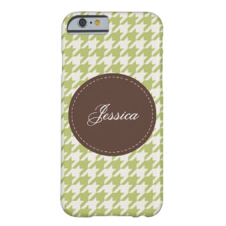 Houndstooth cosido funda de iPhone 6 barely there