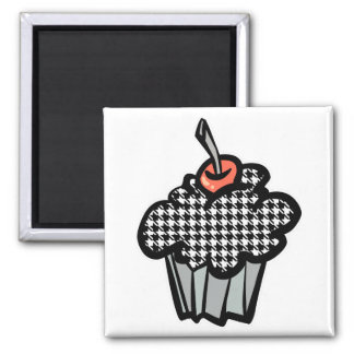 houndstooth cupcake magnets