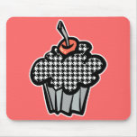 houndstooth cupcake mouse pad