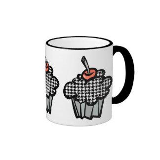 houndstooth cupcake ringer coffee mug
