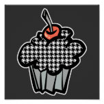 houndstooth cupcake poster