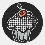 houndstooth cupcake sticker