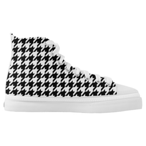 Houndstooth - Customize Background Color High-Top Sneakers