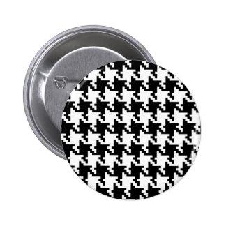 Houndstooth De varios colores-de-Poule Pattern Mod Pin