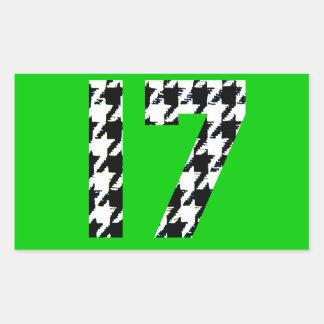 Houndstooth diecisiete rectangular altavoces