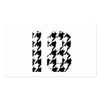 Houndstooth Eighteen Business Card