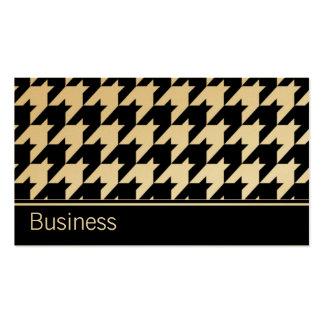Houndstooth Elegant Retro Modern Stylish Classy Business Card