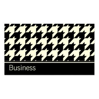 Houndstooth Elegant Retro Modern Stylish Classy Business Cards