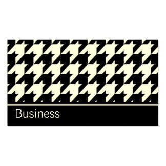 Houndstooth Elegant Retro Modern Stylish Classy Double-Sided Standard Business Cards (Pack Of 100)