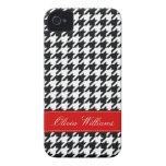 Houndstooth elegante Case-Mate iPhone 4 funda