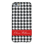 Houndstooth elegante funda barely there iPhone 6