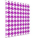 Houndstooth elegante púrpura impresión en lona