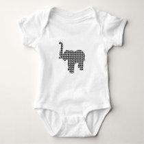 Houndstooth Elephant Baby Bodysuit
