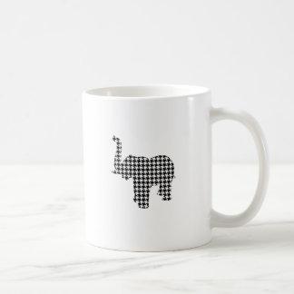 Houndstooth Elephant Coffee Mug
