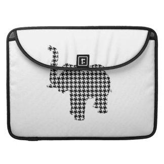 Houndstooth Elephant MacBook Pro Sleeve