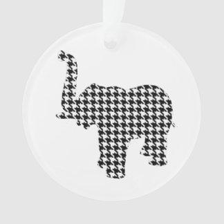 Houndstooth Elephant Ornament