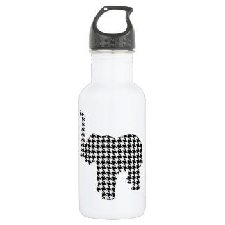 Houndstooth Elephant Water Bottle