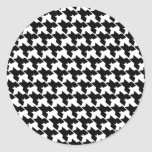 Houndstooth Envelope Seal Classic Round Sticker