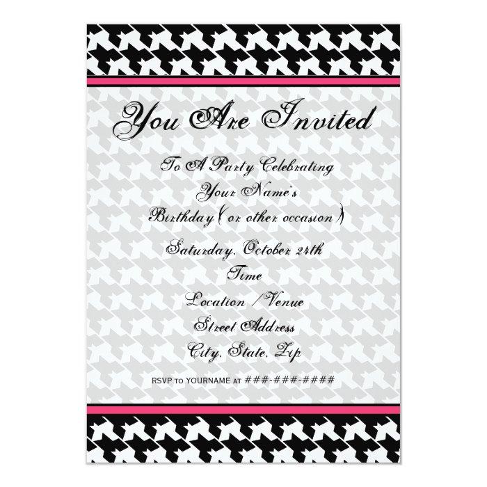 Houndstooth Fashion Invitation