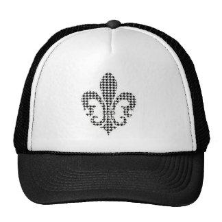 houndstooth fleur de lis trucker hat